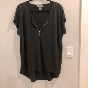 Gold zipper blouse